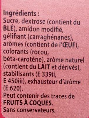 Reme pâtissière - Ingrediënten