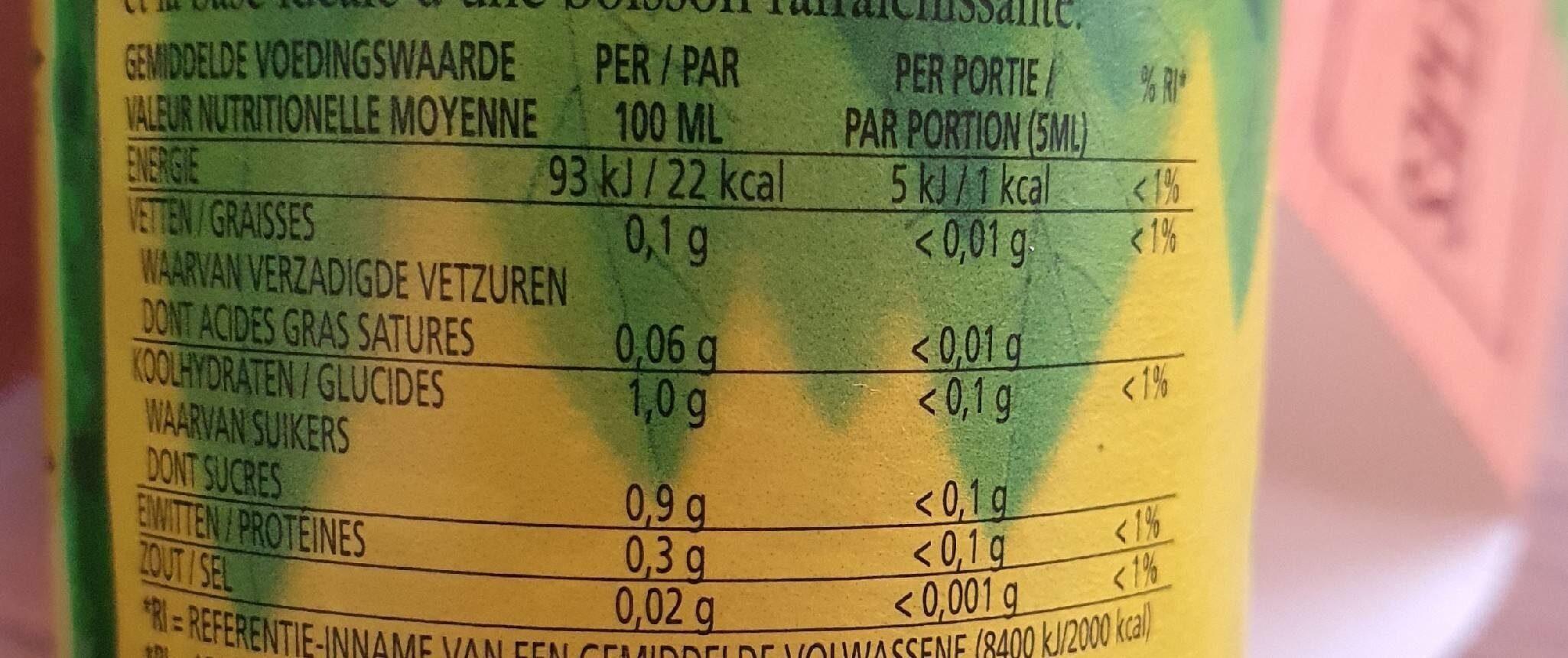 Realime - Voedingswaarden - fr