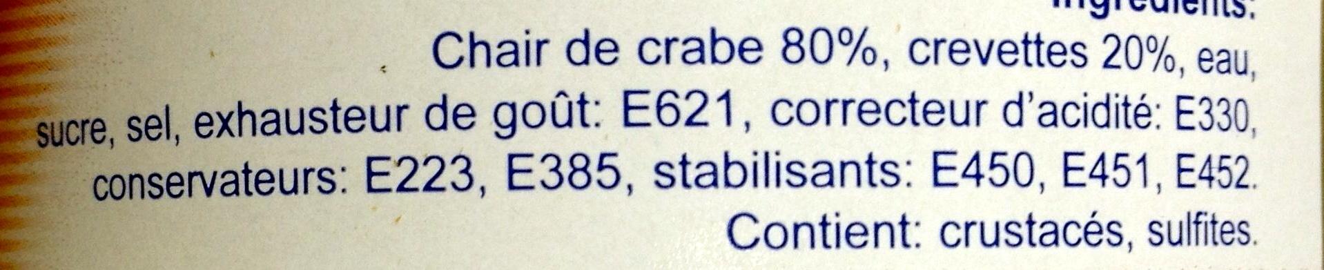 Duo crabe et crevette - Ingredients - fr