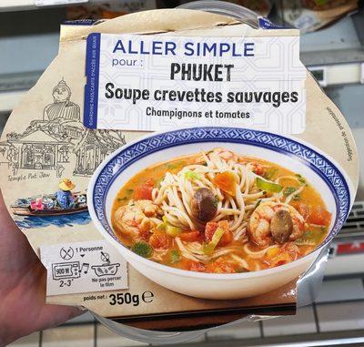 Aller simple pour Phuket Soupe crevettes sauvages Champignons et tomates - Produit - fr