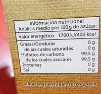 Azúcar Moreno caña - Información nutricional - es