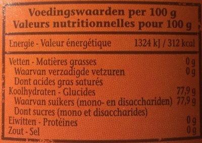 Sirop De Candi Foncé - Ingredients - fr
