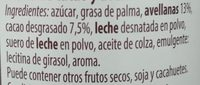 Crema de cacao y avellanas - Ingredientes - es