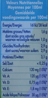 Lait demi-écrémé sans lactose - Voedingswaarden