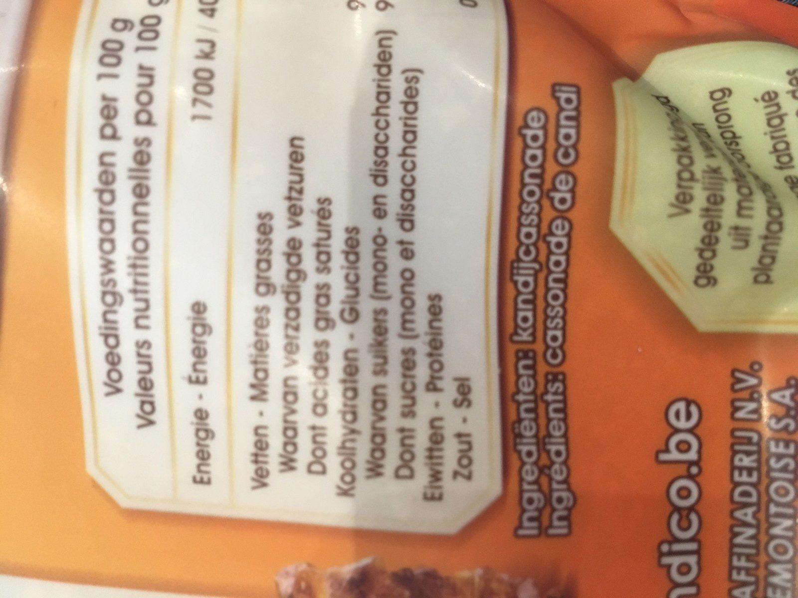 Cassonade de candi blonde - Ingrediënten - fr