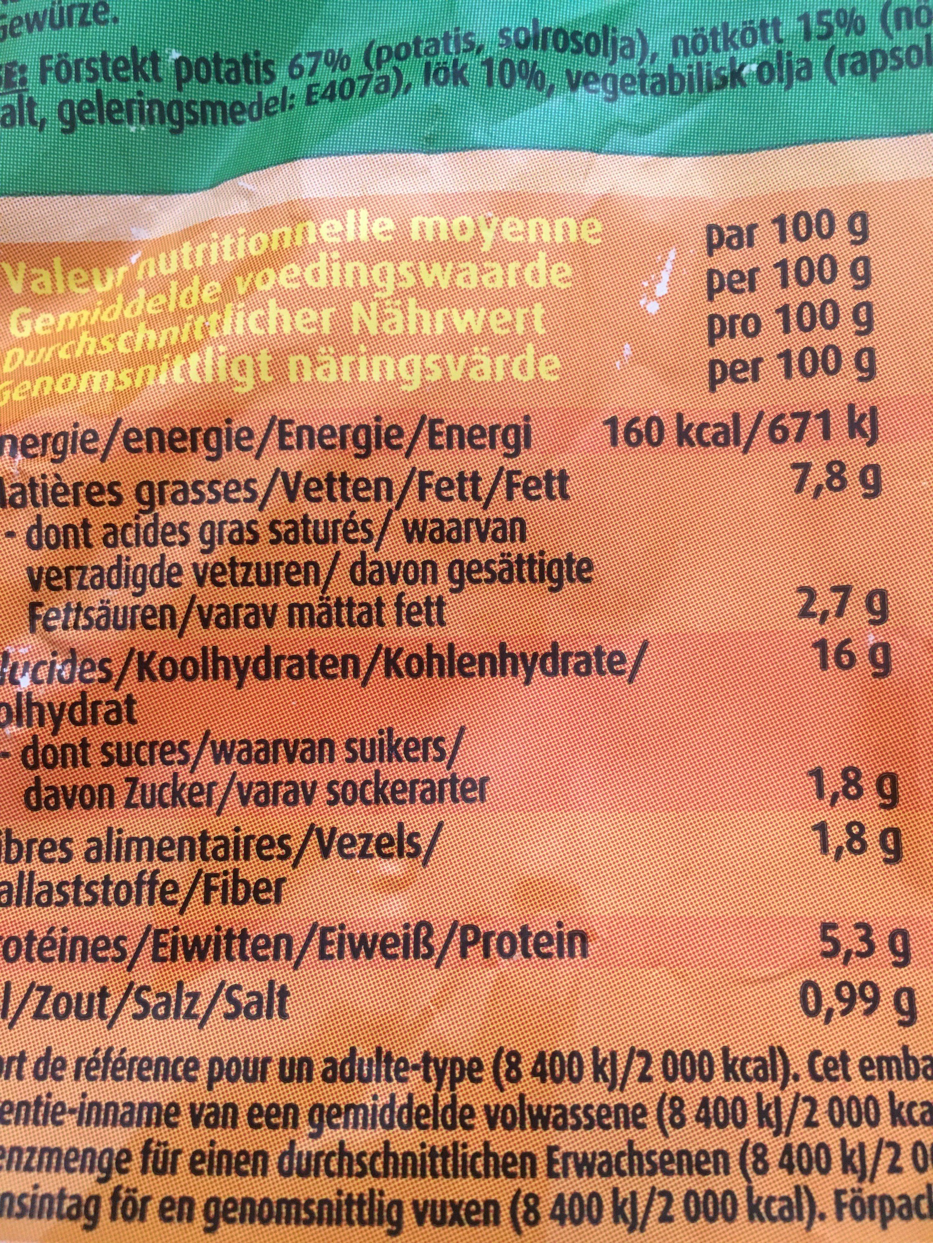 Poelee campagnarde - Ingredients