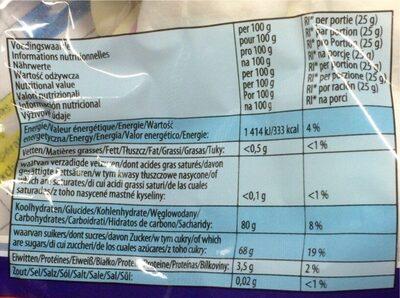 Chamallows Barbecue - Informação nutricional - fr