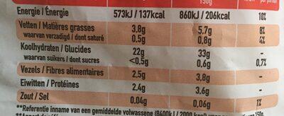 Frites classiques - Ingredients - fr