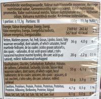 Fruits de mer en chocolat fourrés praliné - Voedingswaarden - fr
