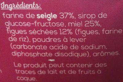 Pain d'Épice au Miel et Figues - Ingrédients