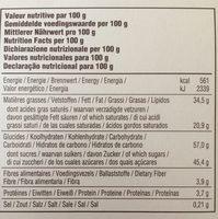 Desobry Perle Noire 18X100G - Ingrediënten