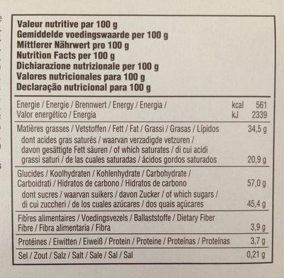 Desobry Perle Noire 18X100G - Voedingswaarden