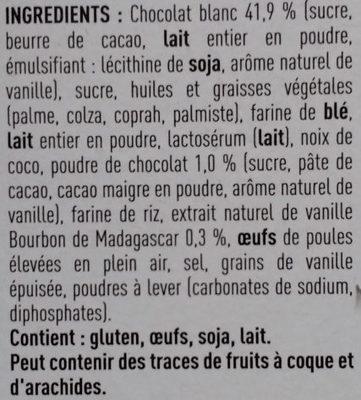 Perle vanille - Ingrediënten
