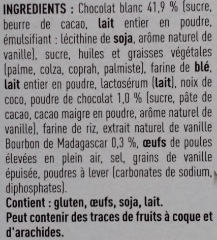 Perle vanille - Ingredients