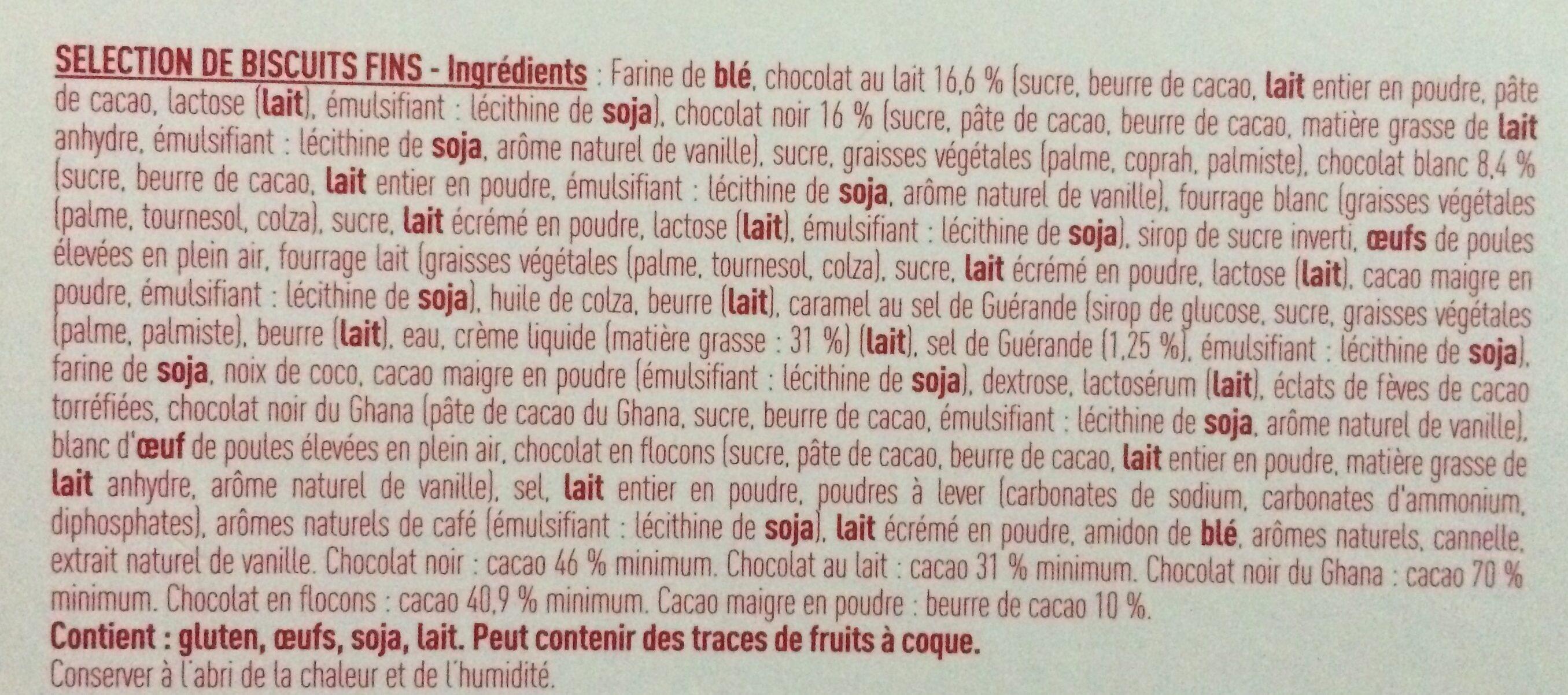 Desobry the belgian buiscuitier - Ingrédients