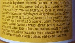 Sauce Brazil La William - Ingredients - fr