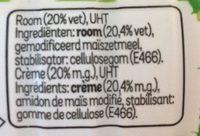 Crème Culinaire Légère - Ingrediënten