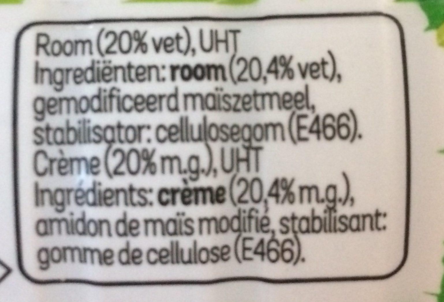 Campina crème culinaire légère - Ingrediënten - fr