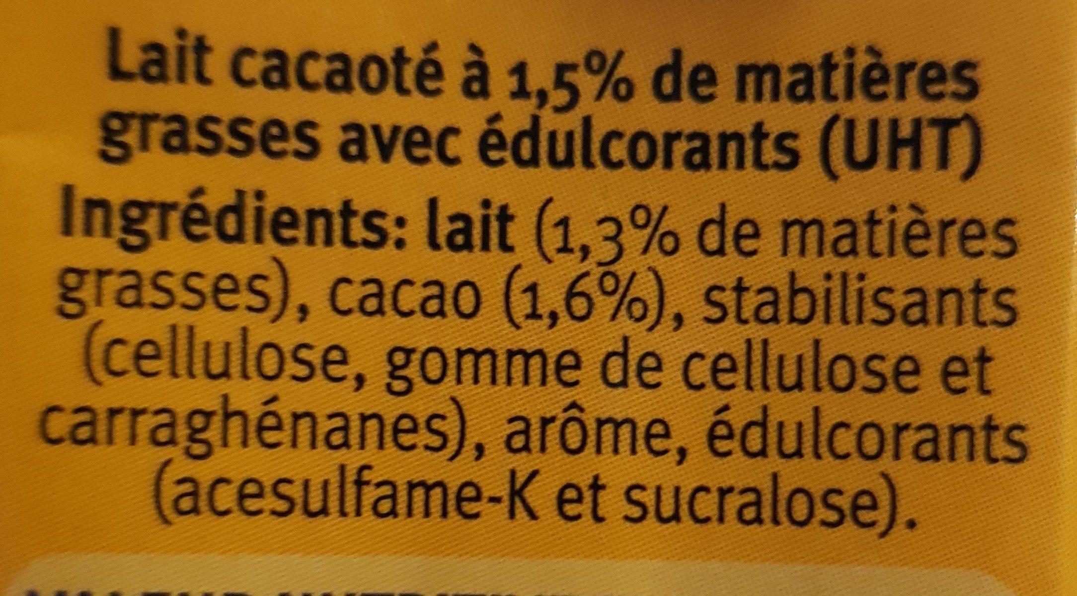 Cécémel zero - Ingrédients - fr