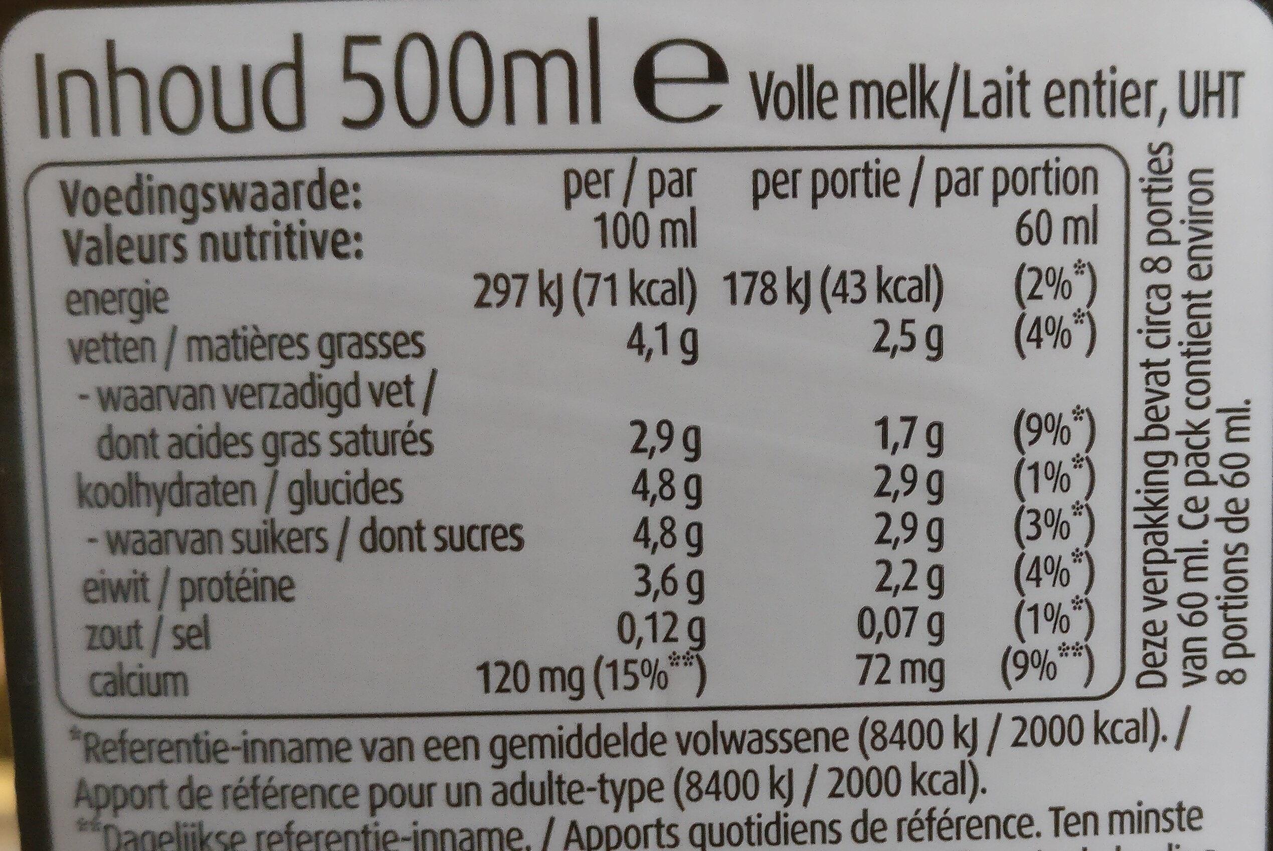 Lait moussant Latte - Nutrition facts - fr