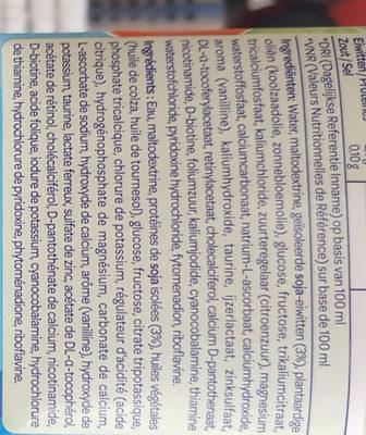 bambix lait soja  2+ - Ingredients