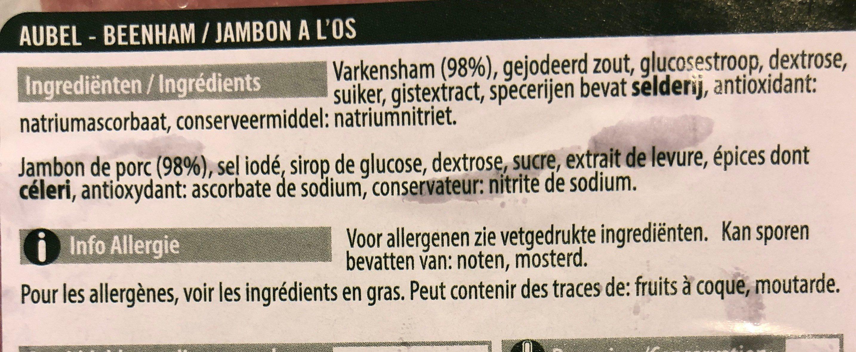 Original Jambon à l'Os supérieur - Ingrediënten