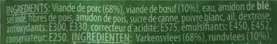Saucisson polinais - Ingrediënten - fr