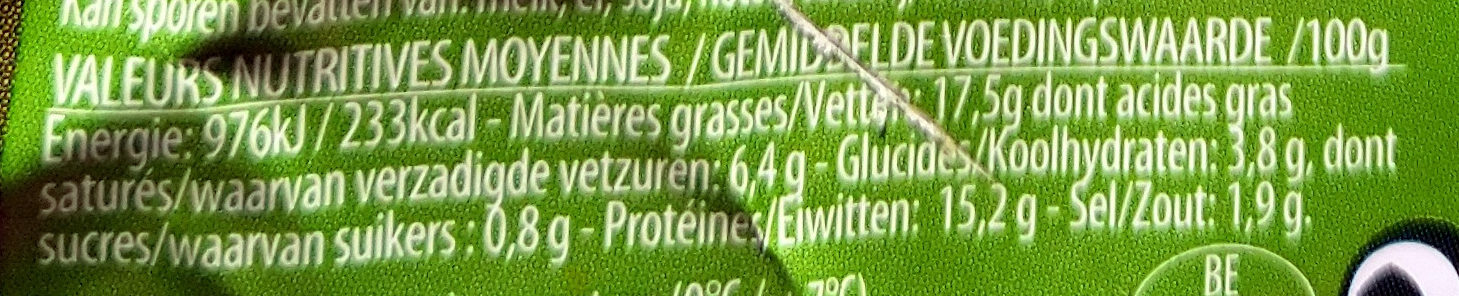 Saucisson polinais - Voedingswaarden - fr