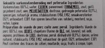 Saucisson persillé - Ingrediënten - fr