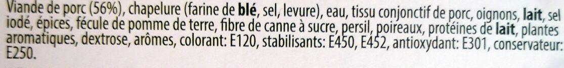 Boulettes Roties - Ingrédients - fr