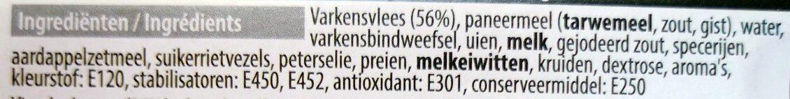 Boulettes Roties - Ingrediënten - nl