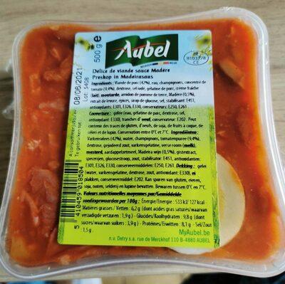 Délice de viande sauce Madère - Produit - fr