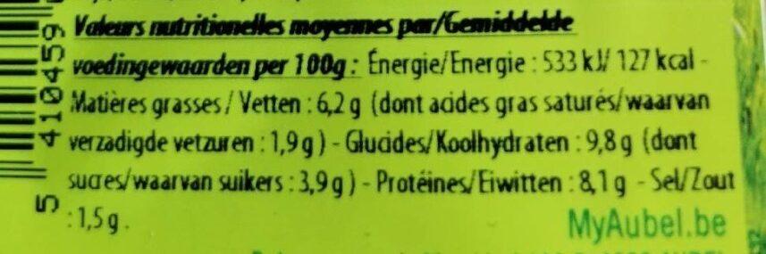 Délice de viande sauce Madère - Informations nutritionnelles - fr