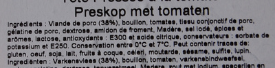 Tête pressée tomate - Ingrediënten
