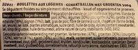 Boulettes roties 30% legumes - Ingredients