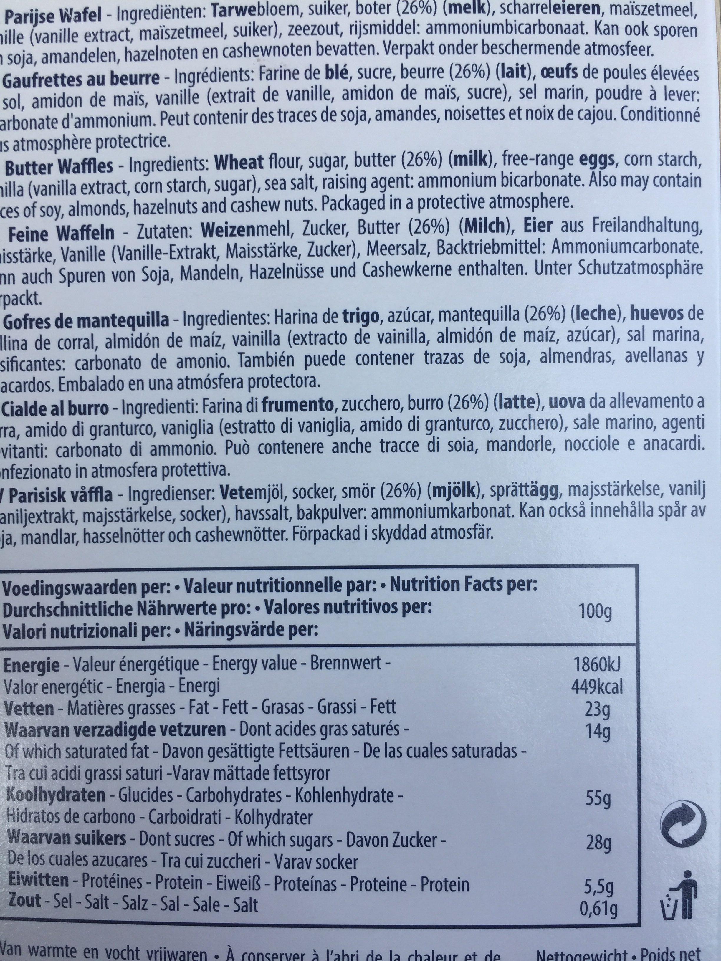Gaufrettes Au Beurre - Ingredients
