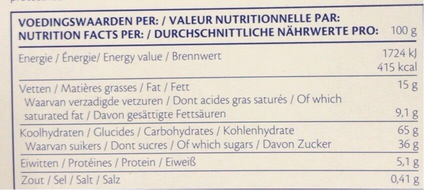 Gaufre - Informations nutritionnelles - fr