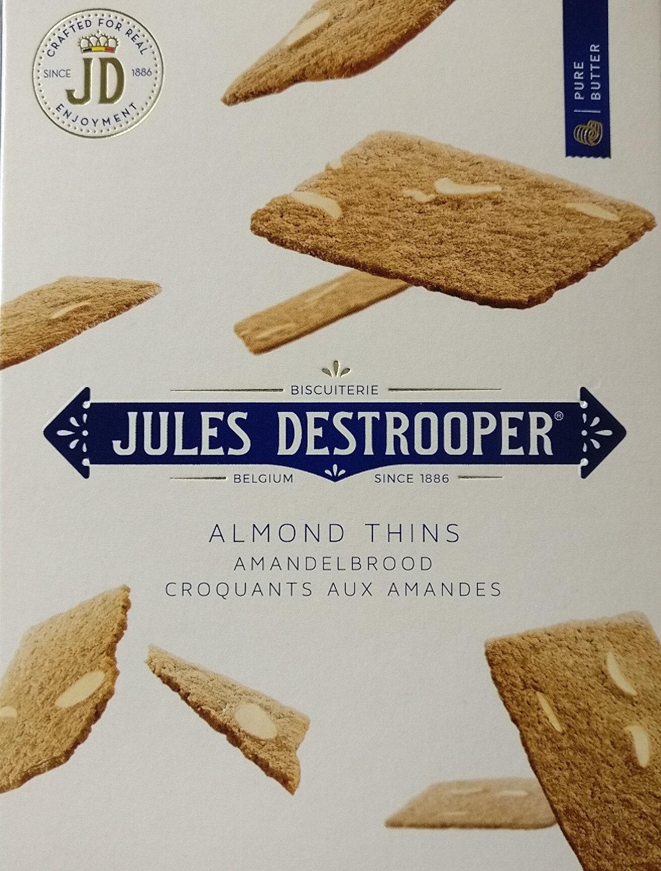 Jules Destrooper Almond Thins 75 Grams - Product - fr