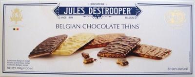 Belgian Chocolate Thins - Produit - fr