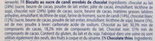 Belgian Chocolate Thins - Ingrédients - fr