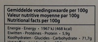 Belgian Apple Thins - Informations nutritionnelles - fr