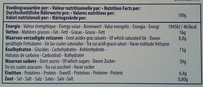 "Biscuits In Blik ""magritte"" 350g - Nutrition facts - fr"