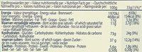 Biscuits à la framboise - Informations nutritionnelles - fr