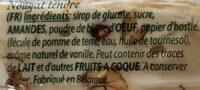 Soft nougat - Ingrediënten