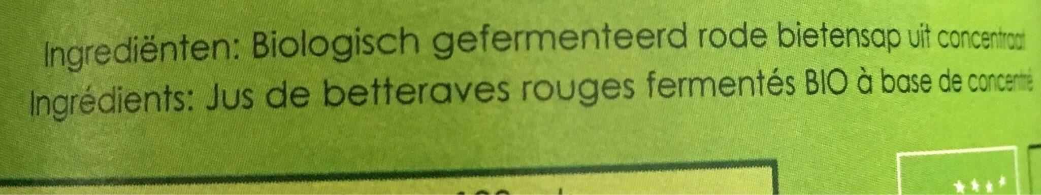 Jus de betteraves rouges - Ingrediënten - fr