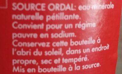 Ordal - Ingrédients - fr