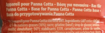 Panna cotta - Ingrédients