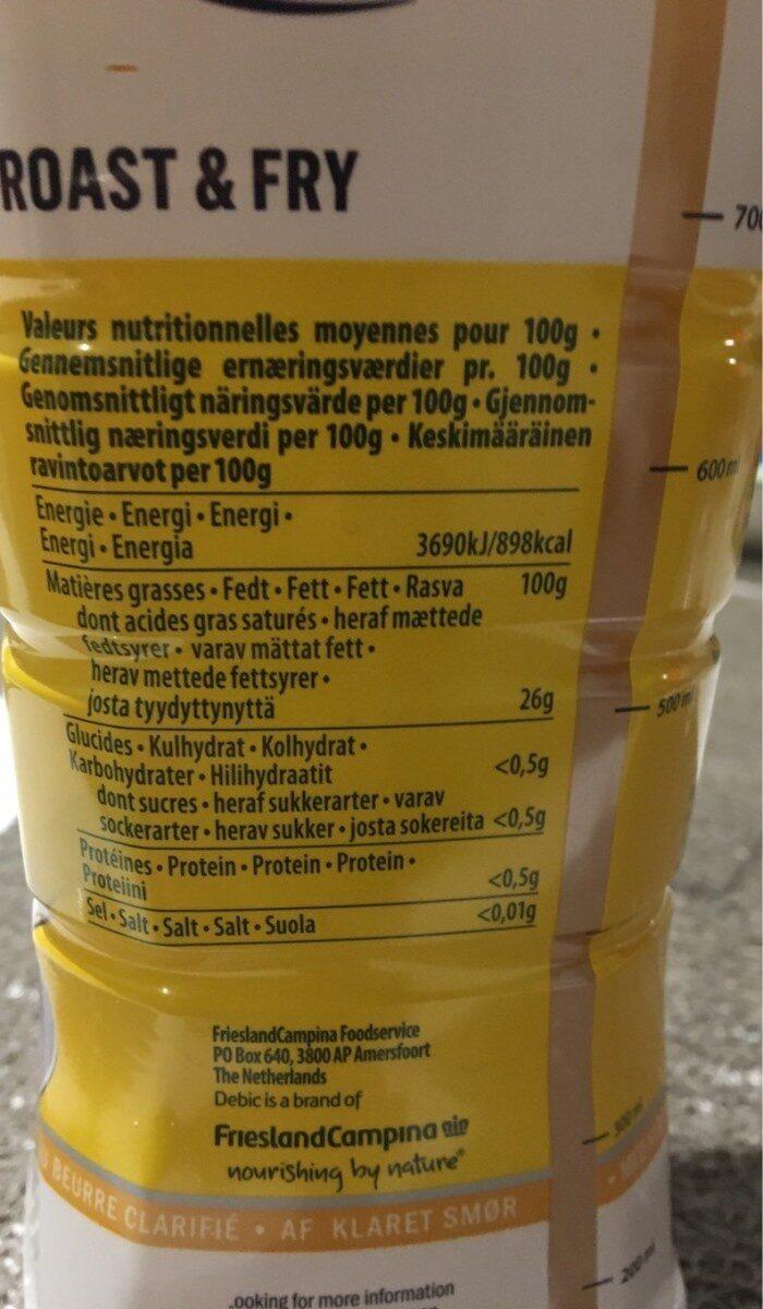 Roast et fry - Nutrition facts