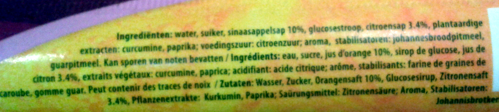 Linzato - Ingrediënten