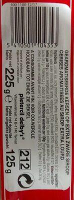 Maraschino Cherries - Voedingswaarden
